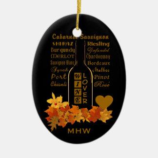 Custom Monogram Wine Lover ornament