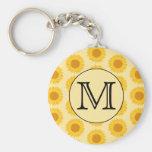 Custom Monogram, with Yellow Sunflowers.