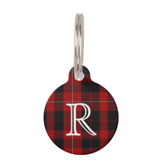 Custom Monogramed Cunningham Plaid Dog Tag Pet Tags