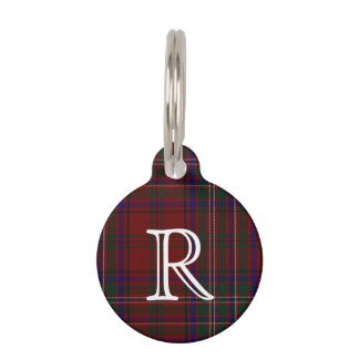 Custom Monogramed MacClure Plaid Dog Tag