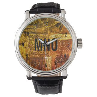 Custom Monogrammed Gold Patchwork Watch