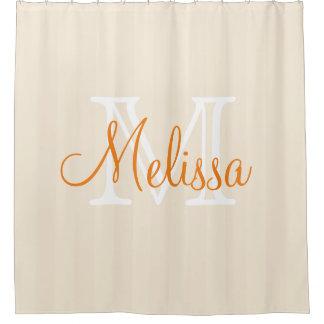 Custom Monogrammed Shower curtain - Name Initials