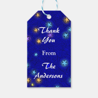 Custom Moon and Stars Etching Thank You Gift Tag