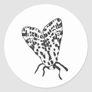 Custom Moth Sketch Sticker