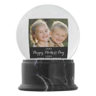 Custom Mother's Day Photo Snow Globe