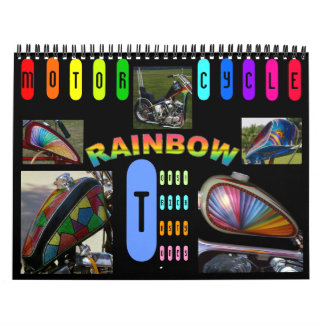Custom Motorcycle paint midi 12 month Wall Calendar