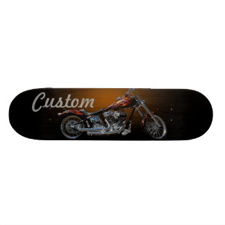Custom Motorcycle Skate Board Deck