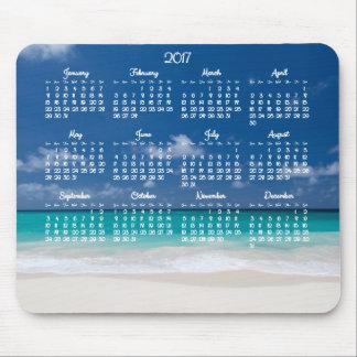 Custom Mouse Pad Calendar 2017 Beach