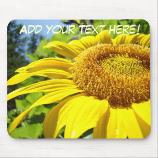 Custom Mousepad Add Your Own Message Sunflower