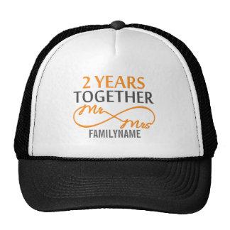 Custom Mr and Mrs 2nd Anniversary Mesh Hat