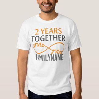 Custom Mr and Mrs 2nd Anniversary T-shirt