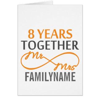 Custom Mr and Mrs 8h Anniversary Card