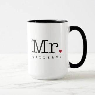 Custom Mr. Coffee Mug   Black, White, Red