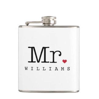 Custom Mr. Wedding Flask | Groom Gift
