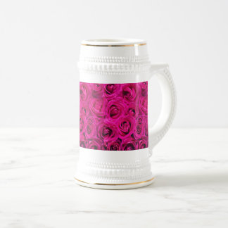 Custom Mug Burgandy Roses White By Zazz_it