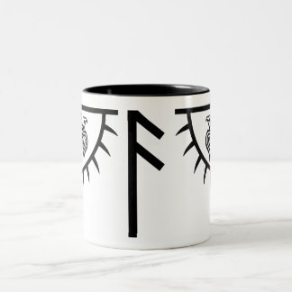 Custom mug featuring Huginn and Muninn