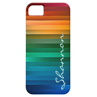 Custom Multicolor Ribbon Stripe iPhone 5 Case