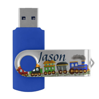 Custom multicolor train USB flash drive