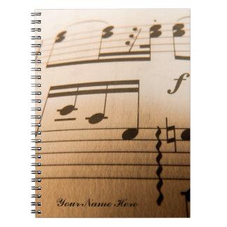 Custom Music NoteBook
