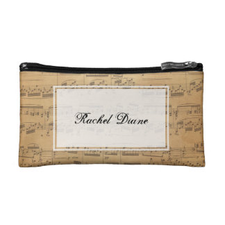 Custom Music Notes Bag - Any Style Cosmetics Bags