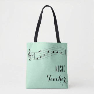 Custom Music Teacher Bag - Mint Green