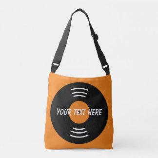 Custom music vinyl record cross body bag for DJ's