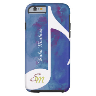custom musical note bluish tough iPhone 6 case