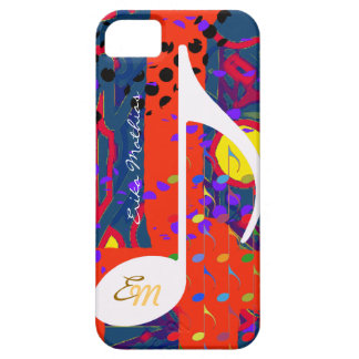 custom musical note colors barely there iPhone 5 case
