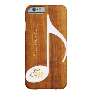 custom musical note on wood barely there iPhone 6 case