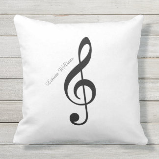 custom musical note outdoor cushion