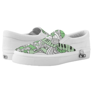 Custom Musical Piano Doodles. Slip On Shoes