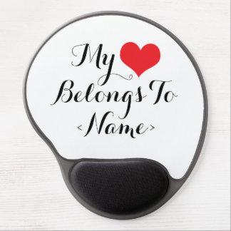 Custom My Heart Belongs To <Name> Gel Mouse Mat