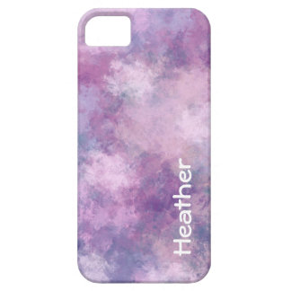 Custom Name Abstract Blue, Lilac and Pink iPhone 5 Covers