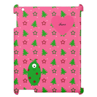 Custom name alien pink christmas trees stars cover for the iPad 2 3 4