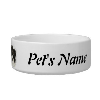 Custom Name and Photo Border Collie, Pet, Dog Bowl