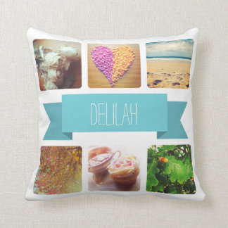 Custom Name and Photo Instagram Throw Cushions