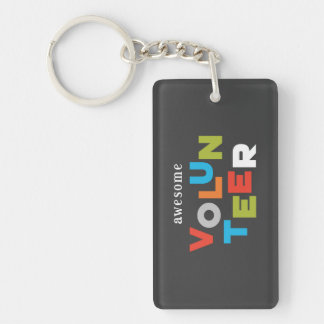 Custom Name, Awesome Volunteer Appreciation Key Ring