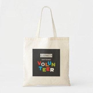 Custom Name, Awesome Volunteer Appreciation Tote Bag