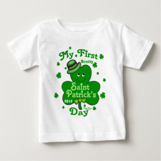Custom Name Baby Boy's First St. Patrick's Day Baby T-Shirt