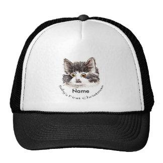 Custom Name Baby Christmas Trucker Hat