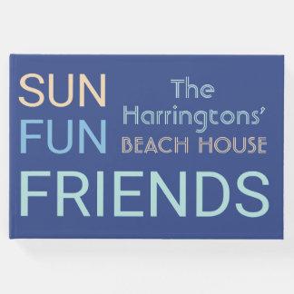Custom Name Beach House guest book