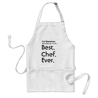 Custom Name Best Chef Ever Standard Apron