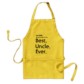 Custom Name Best Uncle Ever Standard Apron