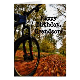 Custom Name - Birthday for Boy - Mountain Bike Card