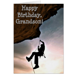 Custom Name - Birthday for Boy - Rock Climbing Card