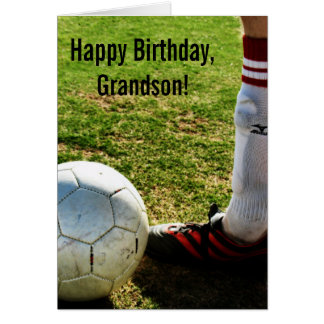 Custom Name - Birthday for Boy - Soccer Player Card