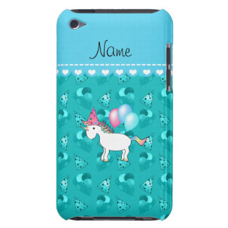 Custom name birthday unicorn turquoise party hats iPod touch covers