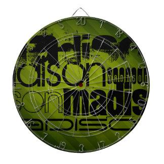 Custom Name, Black and Olive Green Dartboard