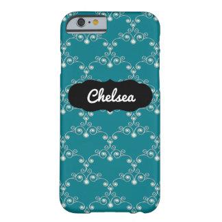 Custom Name Blue Gem Art Pattern iPhone 6/6s Case