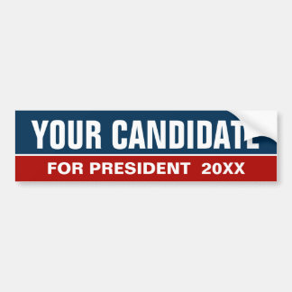 Custom Name Blue/Red Election 2016 Bumper Sticker